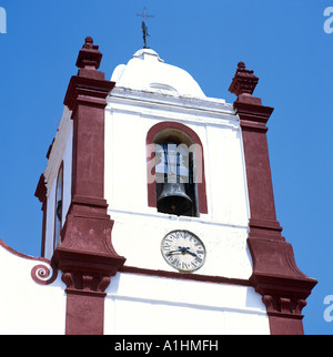 Belltower Silves Cathedral Algarve Portugal Europe - Stock Photo