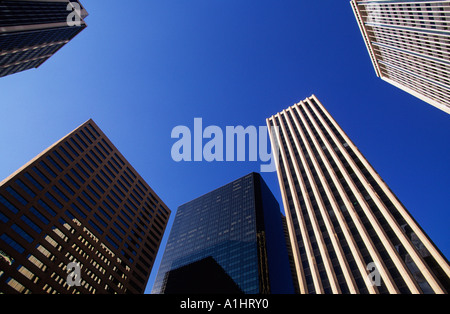 USA Denver Colorado Downtown Office Buildings Skyscrapers Skyline Perspective Sandra Baker - Stock Photo