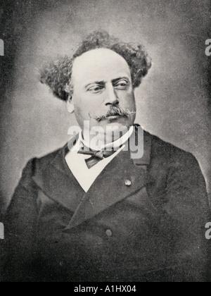 Alexandre Dumas The Younger, 1824 - 1895. French author,  son of Dumas père. - Stock Photo