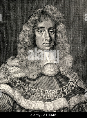 George Jeffreys,1st Baron of Wem, aka Judge Jeffries and the Hanging Judge, 1645 - 1689. Welsh judge and Lord Chancellor. - Stock Photo