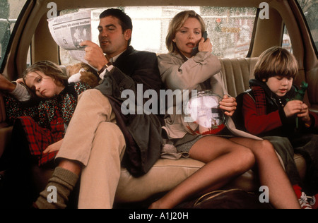 One Fine Day Year 1996 Director Michael Hoffman Michelle Pfeiffer Alex D Linz George Clooney Mae Whitman - Stock Photo