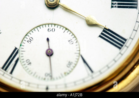 Close up of an old pocket watch - Stock Photo