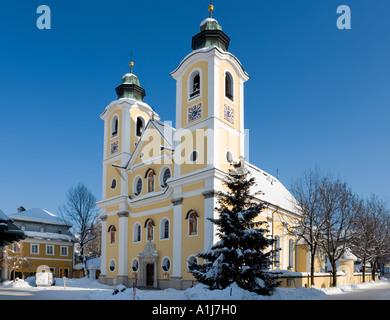 Church in the town centre, St Johann in Tyrol, Tyrol, Austria - Stock Photo