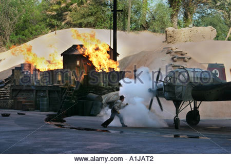 Indiana Jones, an epic stunt spectacular at Disney -MGM Studios, Orlando, Florida - Stock Photo
