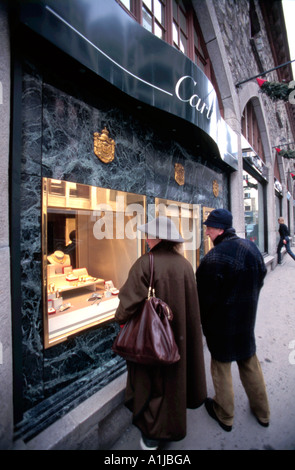 Cartier store on Via Maistra      St Moritz Switzerland - Stock Photo