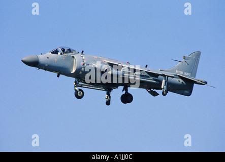 Royal Navy Sea Harrier FA2 STOVL fighter attack aircraft - Stock Photo