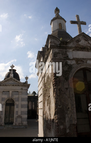Staggered shot of tombs in Recoleta - Stock Photo
