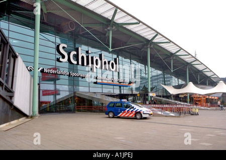 Schiphol airport Amsterdam - Stock Photo