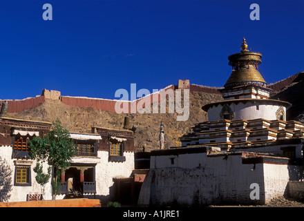 kumbum, chorten, Pelkor Chode Monastery, Buddhism, Buddhist monastery, Buddhist temple, temple, town of Gyantse, - Stock Photo