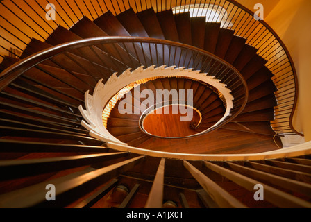 Staircase at Lowndes Grove Plantation Hotel, Charleston, South Carolina - Stock Photo
