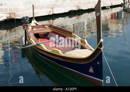 Local boat in the harbour at Birgu (Vittoriosa), near Valletta, Malta - Stock Photo