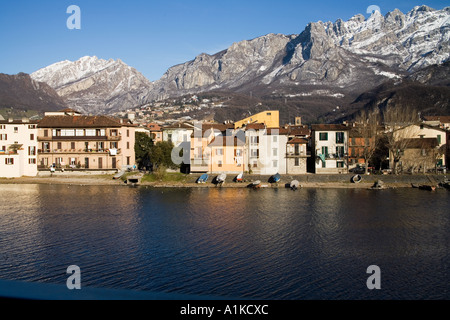 Lecco - Pescarenico- Italy - Stock Photo