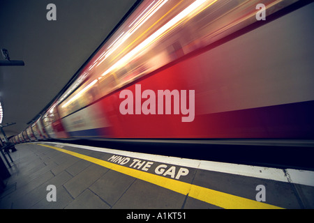 London Underground Platform Britain UK - Stock Photo