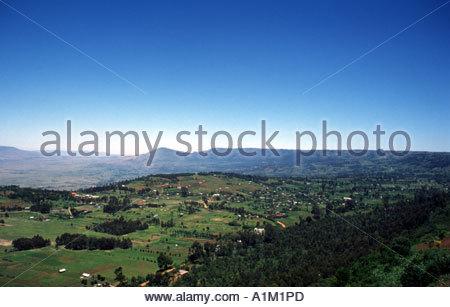 Nr NAIVISHA KENYA  View over the Great Rift Valley. - Stock Photo