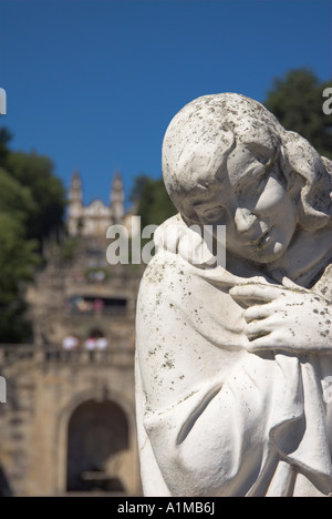 Igreja de Nossa Senhora dos Remedios, Lamego, Douro Region, Northern Portugal - Stock Photo