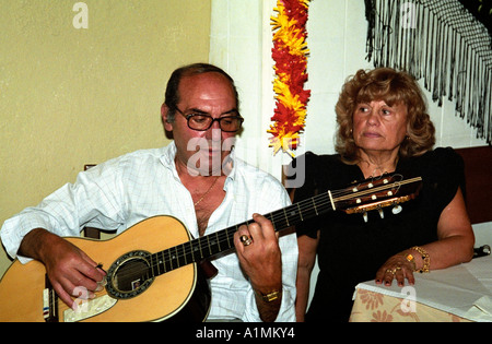 Lisbon Alafama Fado Portugal Bar Portugese Singer - Stock Photo