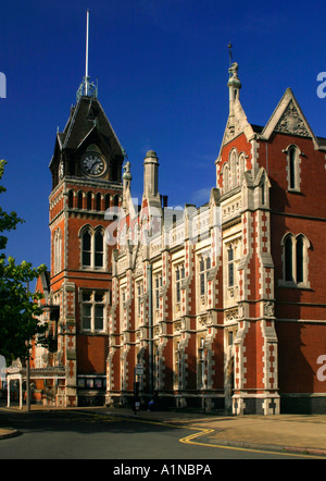Burton on Trent Town Hall Staffordshire England UK built by Michael Bass later Lord Burton in Victorian Gothic style - Stock Photo