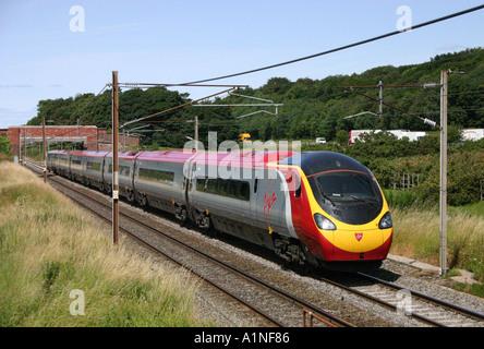 Virgin Class 390 Pendolino Train - Stock Photo