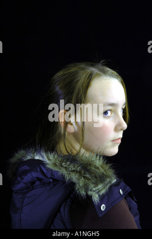 girl youngster young pre-teen eleven years old twelve years old ten years old high school student secondary school - Stock Photo