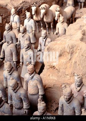 Terracotta Warriors, Xian, China - Stock Photo