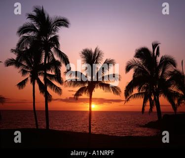 USA - HAWAII: Sunset at Mauna Kea Beach on the Big Island - Stock Photo