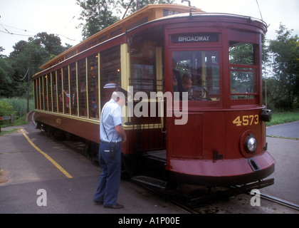 Shore Line Trolley Museum at East Haven near New Haven Connecticut - Stock Photo