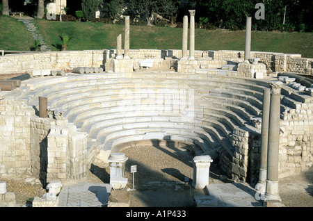 Roman Amphitheater Alexandria Egypt - Stock Photo