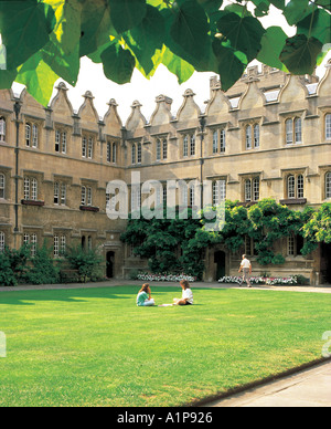 The Inner Quad Jesus College Oxford - Stock Photo