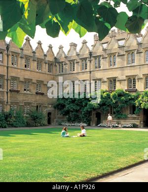 The Inner Quad Jesus College Oxford - Stock Photo