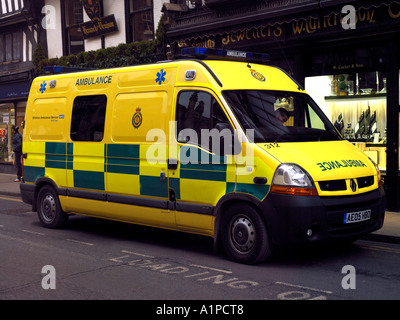 ambulance new yellow colour in salisbury wiltshire england stock photo - Ambulance Pictures To Colour