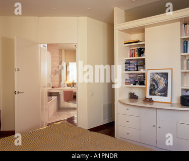 View of a bathroom attached to a bedroom stock photo for Bedroom with attached bathroom designs