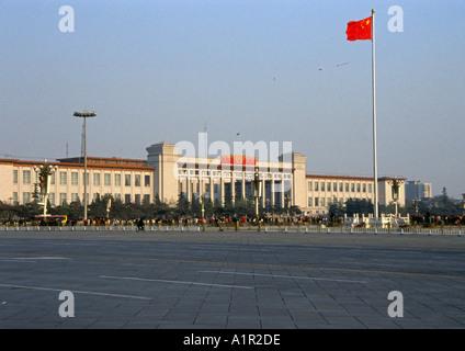 National Museum of China Tiananmen Square Beijing Peking Chinese Asian Asiatic Asia - Stock Photo