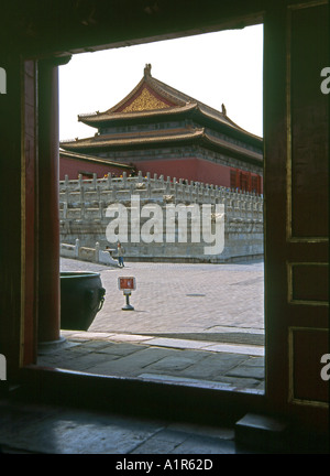 Forbidden City Imperial Palace UNESCO World Heritage Site Beijing Peking China Chinese Asian Asiatic Asia - Stock Photo