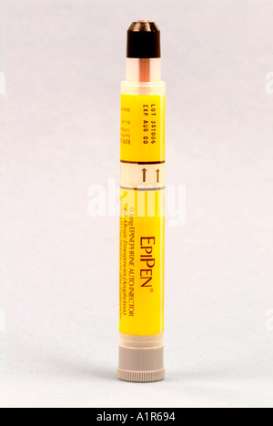 EpiPen - To Treat anaphylaxis, a serious allergic reaction, with an injection of epinephrine. - Stock Photo
