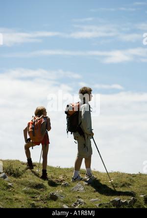 Hikers taking break - Stock Photo