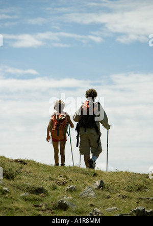 Hikers, rear view - Stock Photo