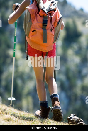Child hiking, low section - Stock Photo