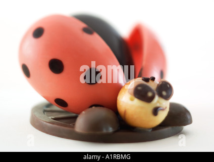 Chocolate ladybug - Stock Photo