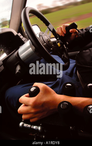 A Motor Cars Driving Controls Adapted For A Disabled Driver Stock
