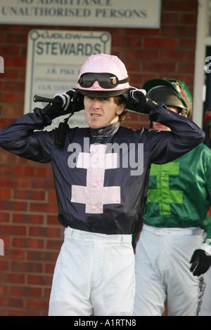 Jockey Tony McCoy at Ludlow Racecourse, Shrophire - Stock Photo