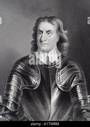 Oliver Cromwell 1599 to 1658 English military leader and politician Head of State 1653 to 1659 - Stock Photo
