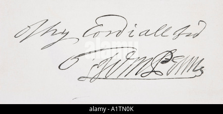 Signature of William Penn, 1644 - 1718. English Quaker leader, founder of the English North American colony the - Stock Photo