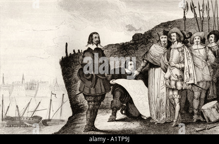 Louis XIII The Just 1602 to 1643 at the siege of La Rochelle in October 1628 - Stock Photo