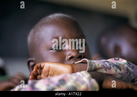 ORPHANS IN ORPHANAGE,AFTER THE GENOCIDE NYAMATA RWANDA 03 1995 - Stock Photo