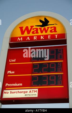 AJD55303, Gap, PA, Pennsylvania, Pennsylvania Dutch Country, Wawa Convenience Store, market, gas station - Stock Photo