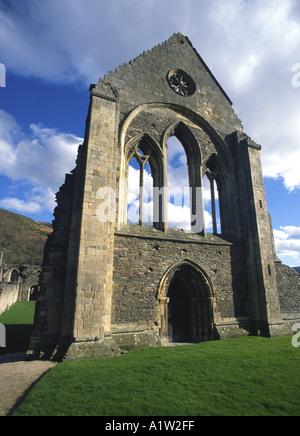 Valle Crucis Abbey Llangollen North Wales UK United Kingdom Europe - Stock Photo