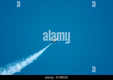 A single F A 18 Hornet jet from U S Navy s Blue Angels flight demonstration team - Stock Photo