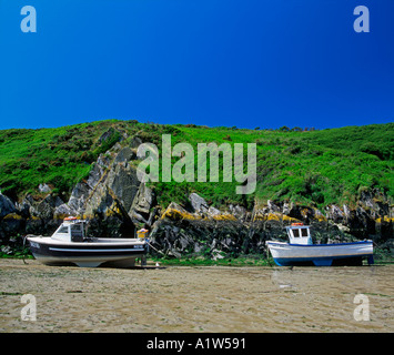 Small boats at Porth Clais near St David s Pembrokeshire - Stock Photo