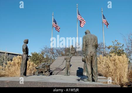 Victory 95 50th Anniversary World War II Memorial at Heartland of America Park Omaha Nebraska USA - Stock Photo