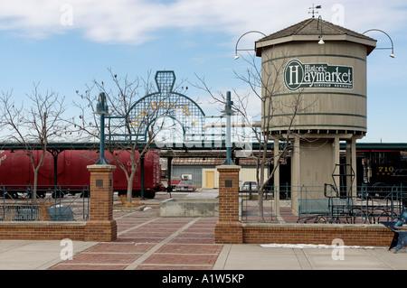 Iron Horse park Haymarket district Lincoln Nebraska USA - Stock Photo